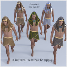The Egyptian King  - Dynamic and dForce for L'Homme, Genesis 8 and Genesis 3 image 8