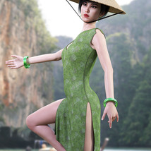 dForce Far East Dress and Props for Genesis 8 Female image 5