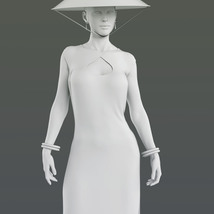 dForce Far East Dress and Props for Genesis 8 Female image 8