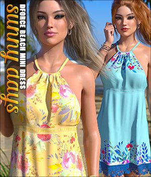 Sunny Days for dForce Beach Mini Dress G8F 3D Figure Assets Sveva