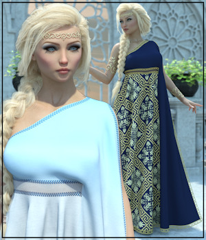 Epic: dForce - Rossetti Gown for G8F 3D Figure Assets 3-DArena