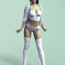 X-Fashion Nana Outfit for Genesis 8 Female(s) image 1