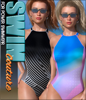 SWIM Couture for Power Swimwear G8F 3D Figure Assets Sveva