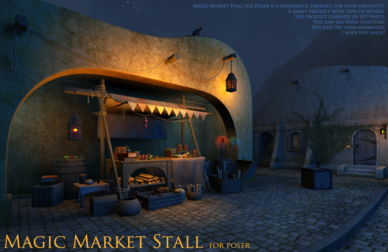 Magic Market Stall for Poser by 1971s