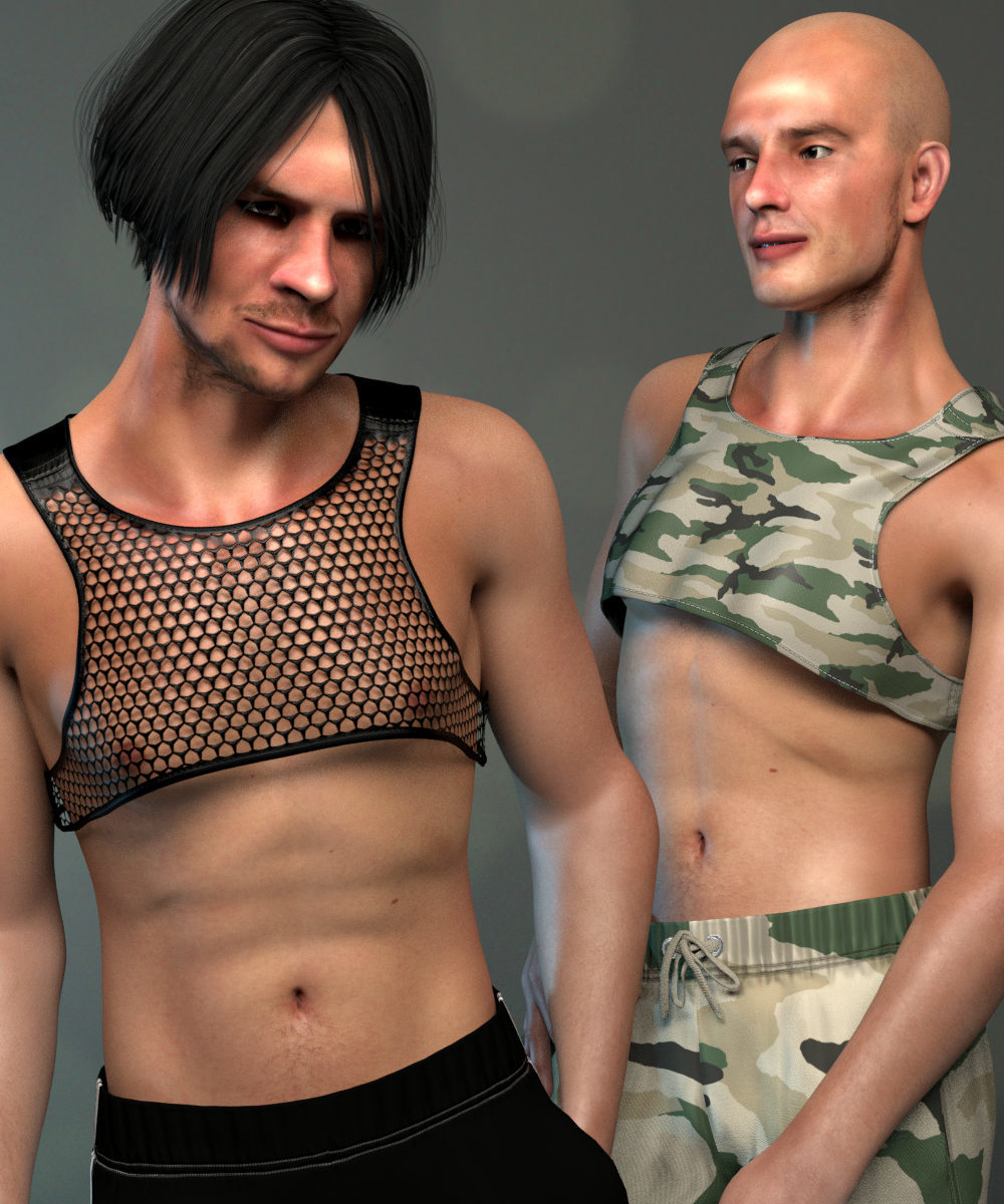 Casual Crop Top for L'Homme