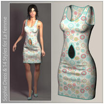 Sophie Dress for La Femme image 5