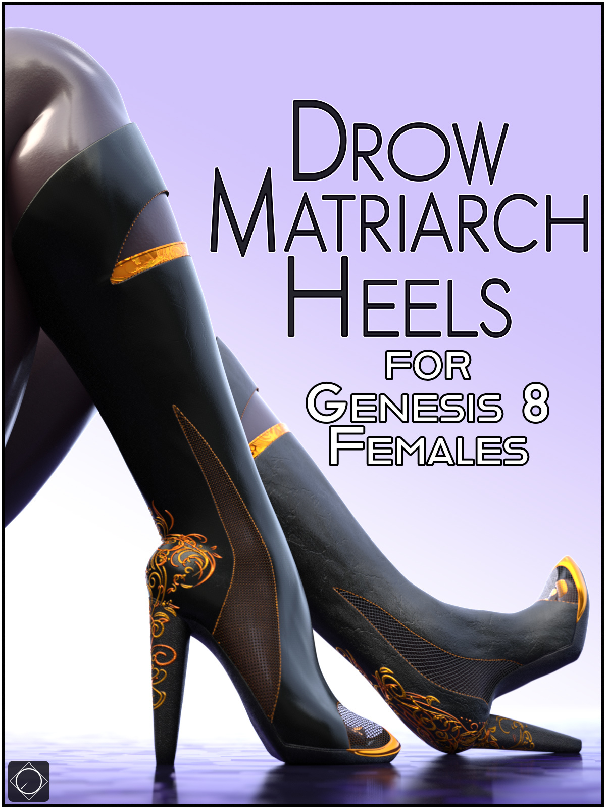 Drow Matriarch Heels for Genesis 8 Females