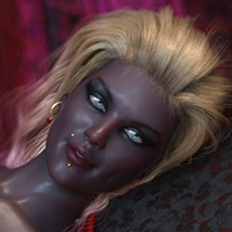 Drow Matriarch Heels for Genesis 8 Females image 1