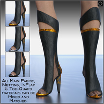 Drow Matriarch Heels for Genesis 8 Females image 7