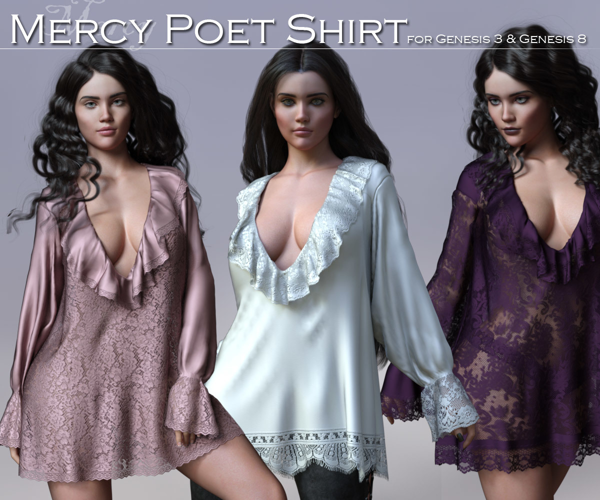 Mercy Poet Shirt for G3 and G8 Females by Rhiannon