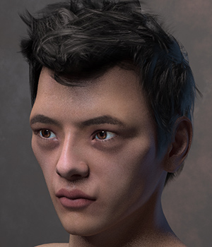 RA Asian Male M4 3D Figure Assets RAGraphicDesign