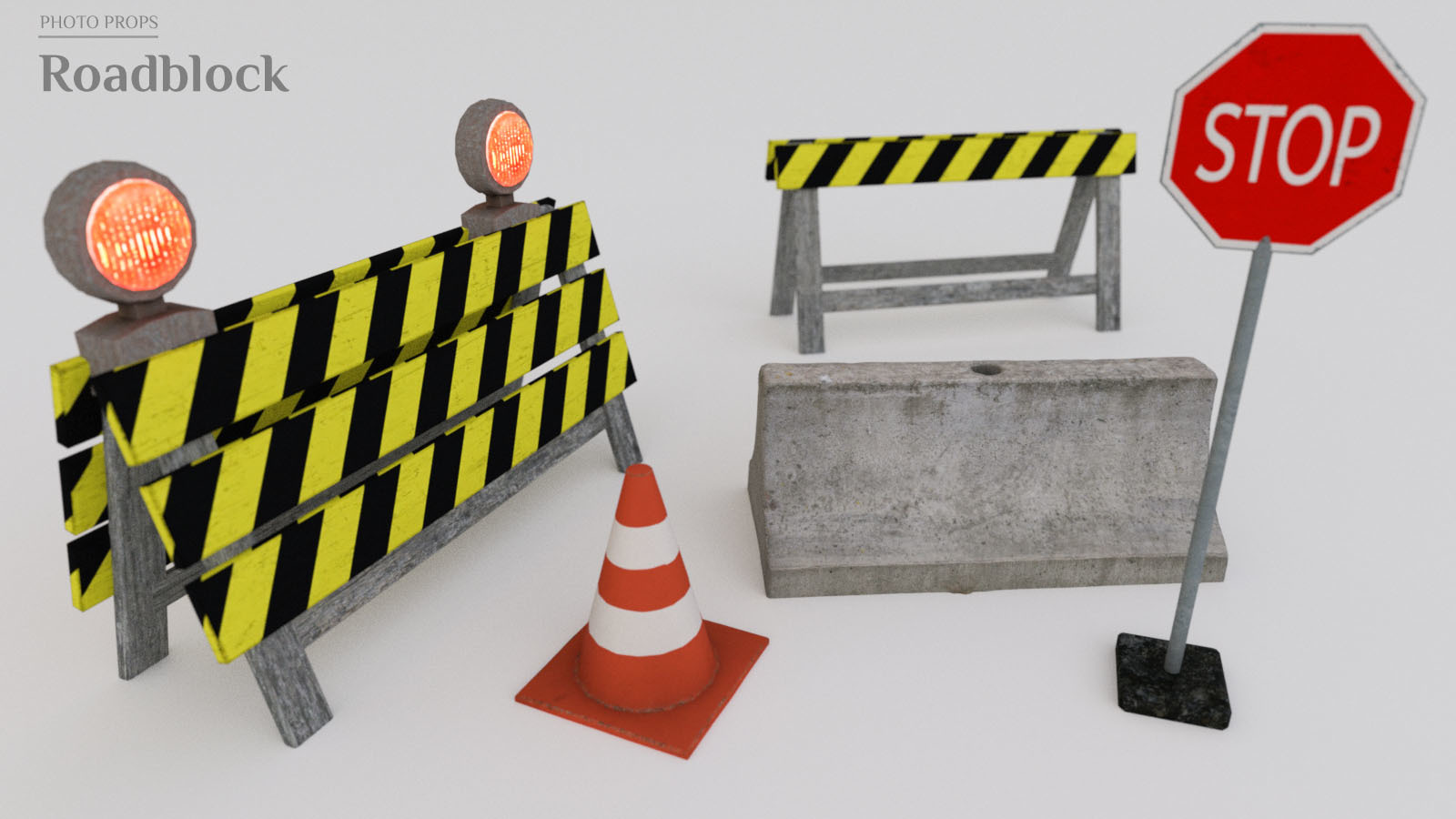 Photo Props: Roadblock - Extended License by ShaaraMuse3D