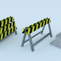 Photo Props: Roadblock - Extended License image 1