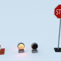Photo Props: Roadblock - Extended License image 2
