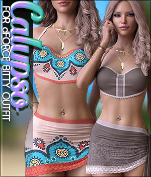 Calypso for dForce Bitty Outfit G8F 3D Figure Assets Sveva