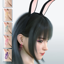 Cutie Bunny Outfit for Genesis 8 Female image 6