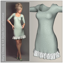 Mary Dress for La Femme image 4