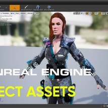 Sci fi Cyberpunk Action Girl Adrestia-Rigged - Extended License image 5
