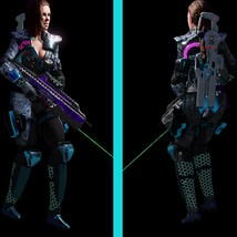 Sci fi Cyberpunk Action Girl Adrestia-Rigged - Extended License image 10