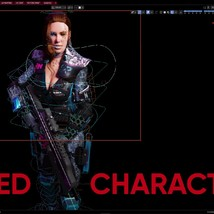 Sci fi Cyberpunk Action Girl Adrestia-Rigged - Extended License image 11