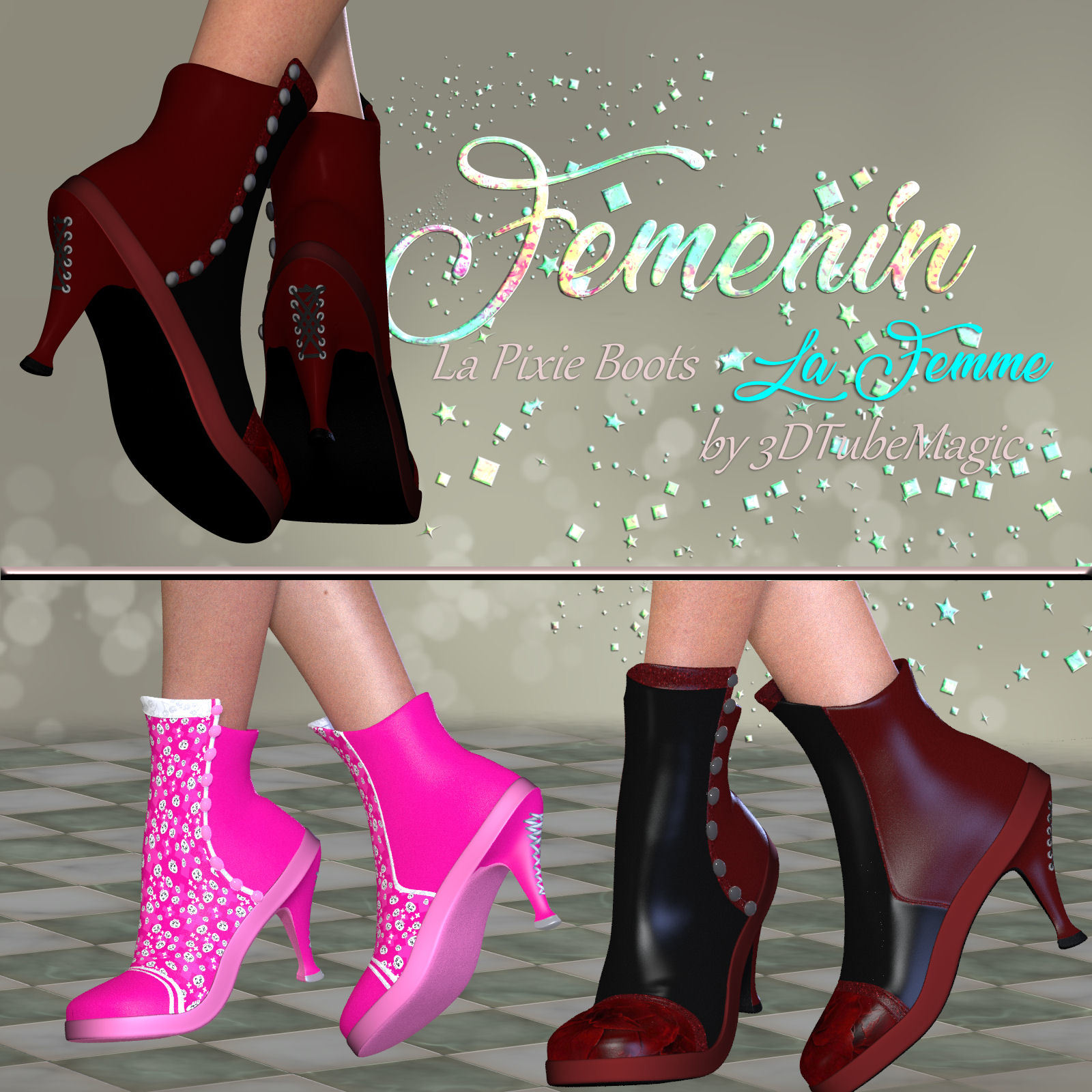DA-Femenin for La Pixie Boots by 3DTubeMagic