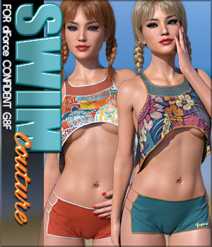 SWIM Couture for dForce Confident G8F 3D Figure Assets Sveva
