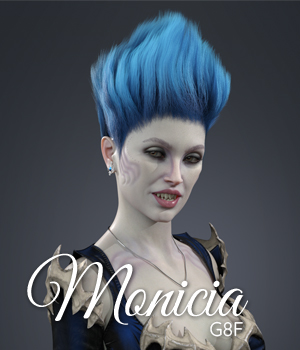 Monicia Character and Hair for Genesis 8 Female 3D Figure Assets ColorGaleria