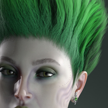 Monicia Character and Hair for Genesis 8 Female image 6