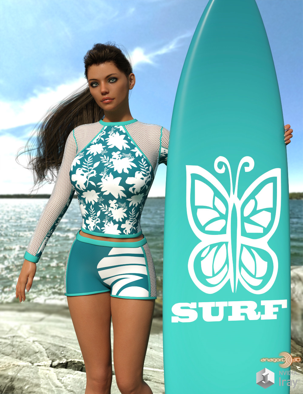 VERSUS - Surfer Girl Outfit for Genesis 8 Female by Anagord