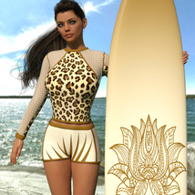 VERSUS - Surfer Girl Outfit for Genesis 8 Female image 1