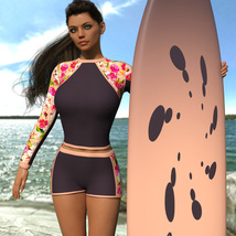 VERSUS - Surfer Girl Outfit for Genesis 8 Female image 2