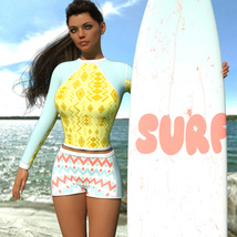 VERSUS - Surfer Girl Outfit for Genesis 8 Female image 4