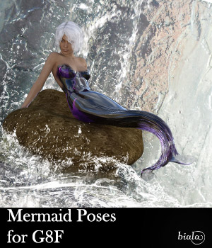 Mermaid Poses for G8F 3D Figure Assets biala