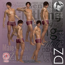DZ LH Looking Back Poses for L'Homme image 1