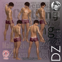 DZ LH Looking Back Poses for L'Homme image 2