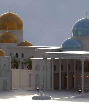 Ancient Persia Kitbash - City Center Focus Group 3D Models forester