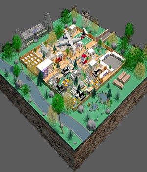 Imaginary Town - Extended License 3D Game Models : OBJ : FBX 3D Models Extended Licenses wilson1