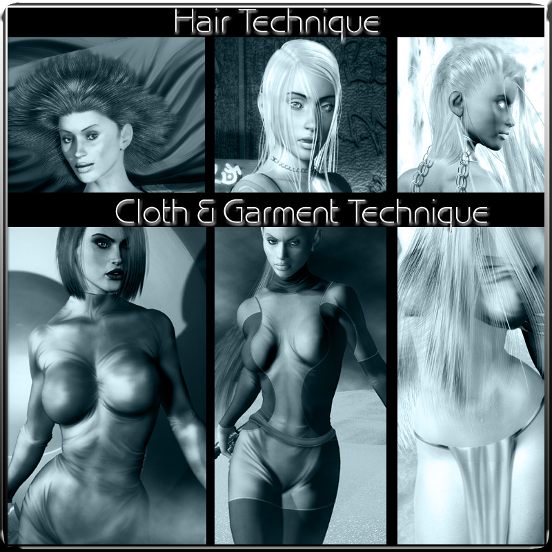 Ra Graphics Hair, Cloth & Post work Techniques