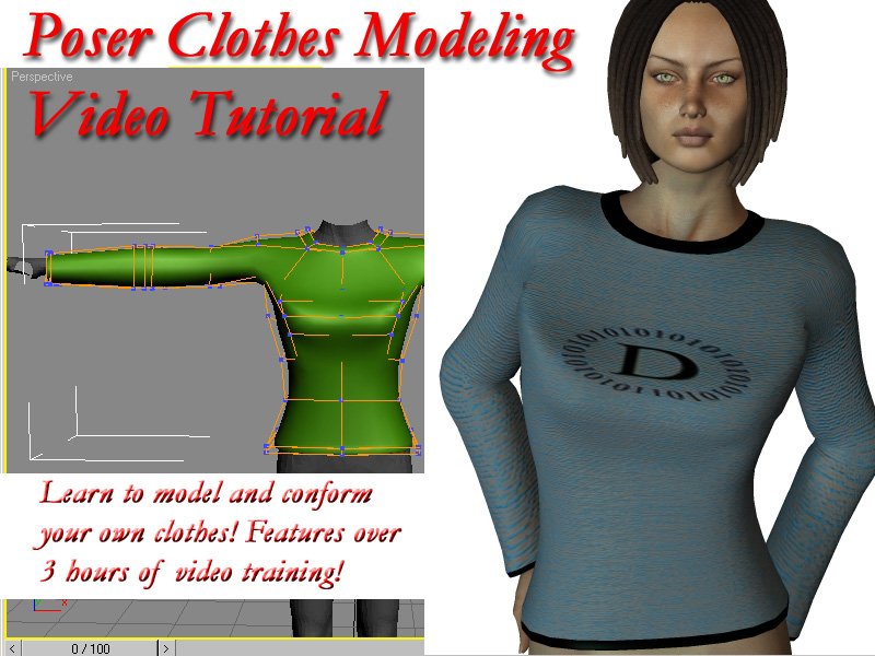 Poser Clothes Modeling Video Tutorial