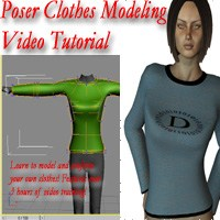 Poser Clothes Modeling Video Tutorial Tutorials markdc