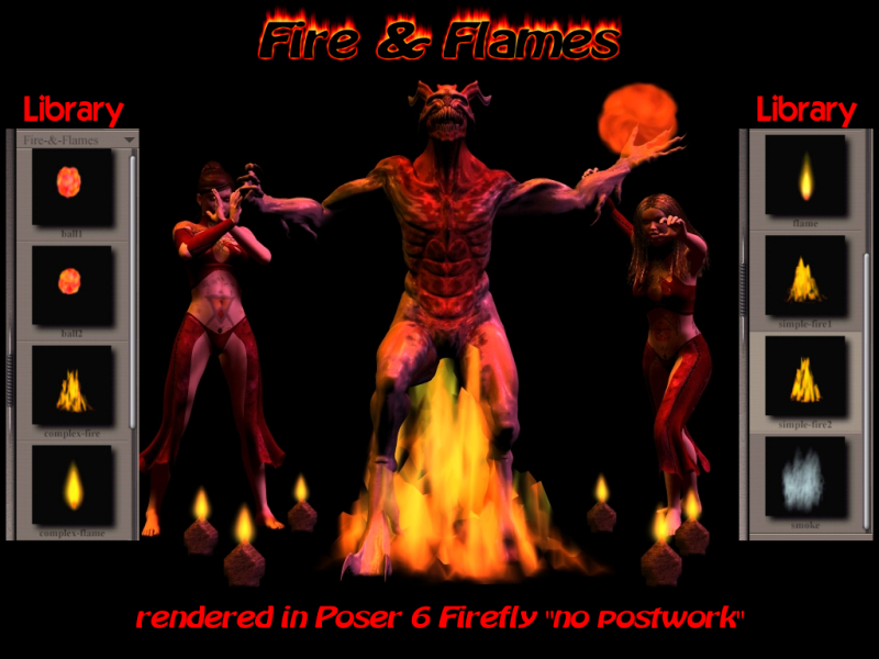 Fire & Flames for Poser