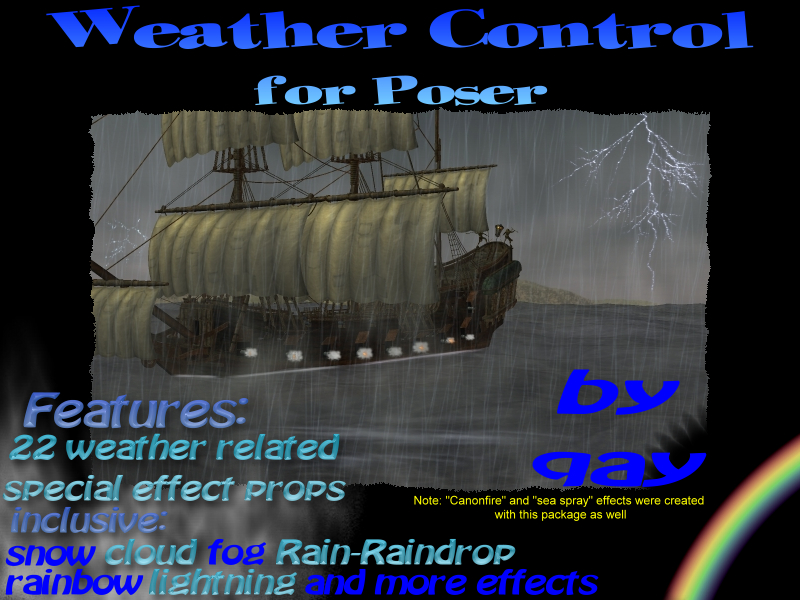 Weather Control for Poser