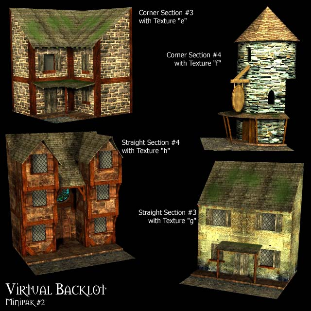 Virtual backlot building minipak 2 poser daz themed for Interactive house builder