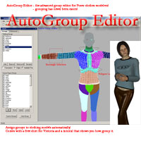 AutoGroup Editor - the advanced group editor for Poser clothes modelers Software markdc