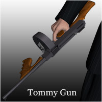 The Tommy Gun (Poser,OBJ & LWO) 3D Models RPublishing