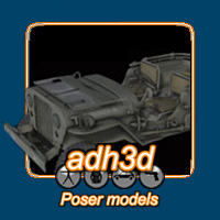 WWII USA Jeep Themed Transportation adh3d