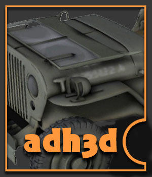 WWII USA Jeep 3D Models adh3d