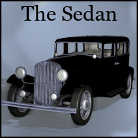 The Sedan (Poser & OBJ) Themed Transportation Props/Scenes/Architecture RPublishing