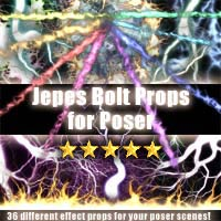 Jepes Bolt Props For Poser 3D Models 2D Jepe