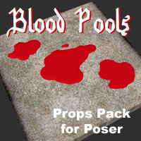 Blood Pools Kit I & II (Poser) Props/Scenes/Architecture 2D And/Or Merchant Resources Themed RPublishing